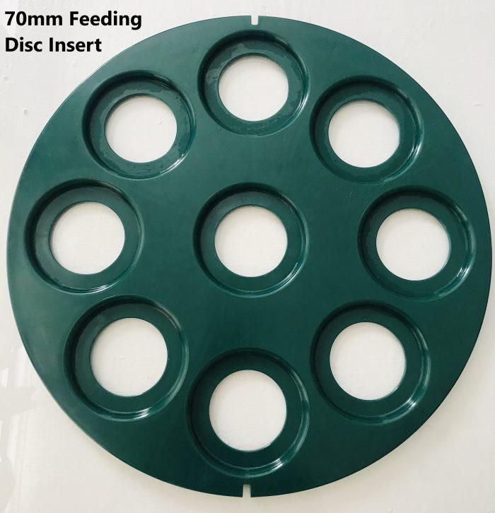 70mm feeding disc
