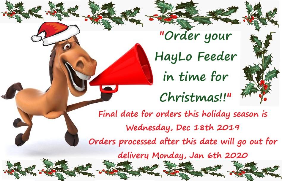 HayLo Christmas orders